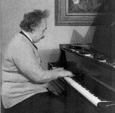 einstein at piano