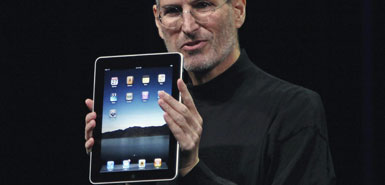 Steve Jobs launches the Apple iPad