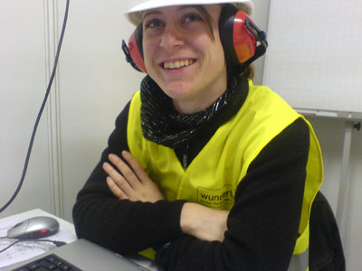 Happy woman at work