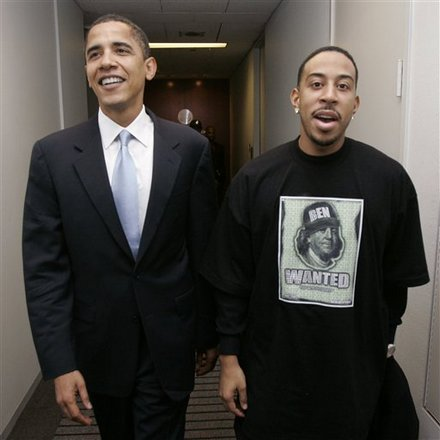 Barack Obama and Ludacris