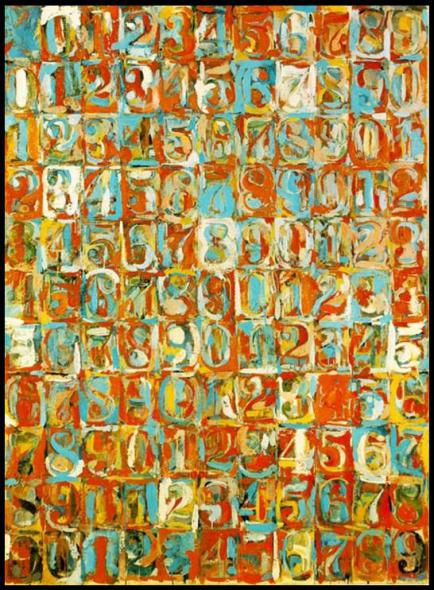"Jasper Johns - ""Numbers in Color"" (1958-1959)"
