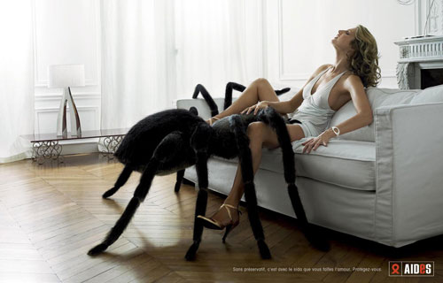 human sized tarantula approaching crotch of a sexually aroused woman