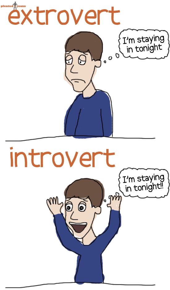 my boyfriend is an extrovert and i m an introvert