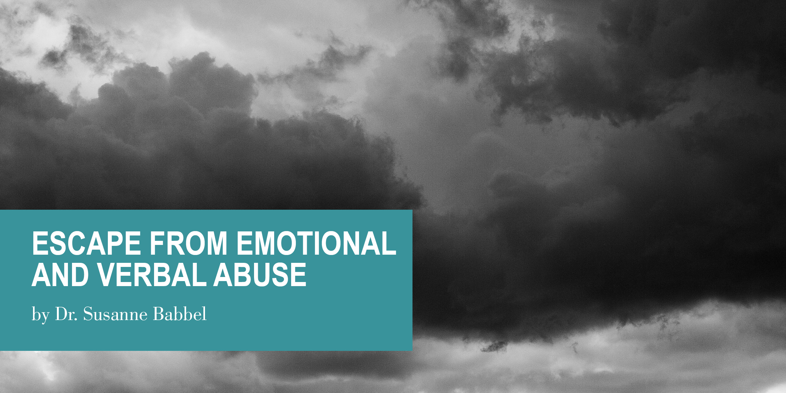 Escape From an Emotionally and Verbally Abusive Father | Psychology Today