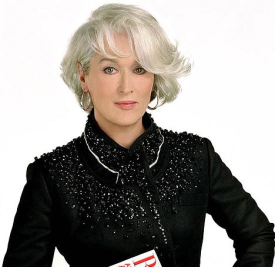 Beautiful women with gray hair