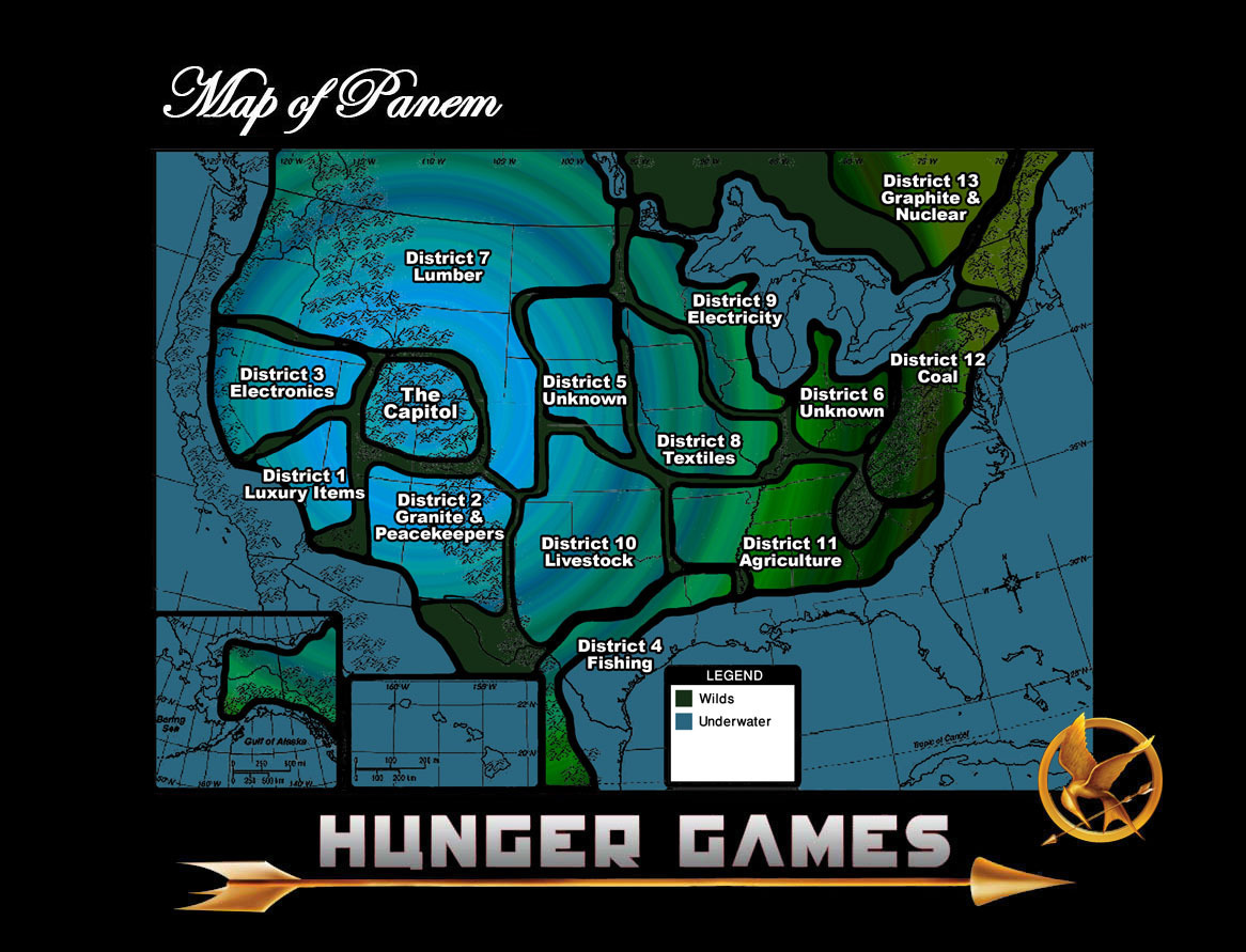 the districts hunger games
