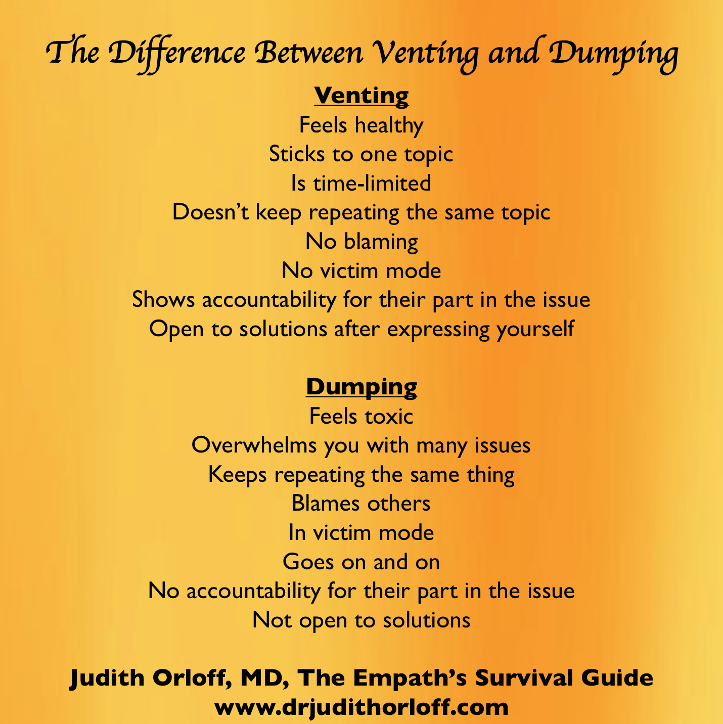 The Difference Between Venting and Dumping | Psychology Today