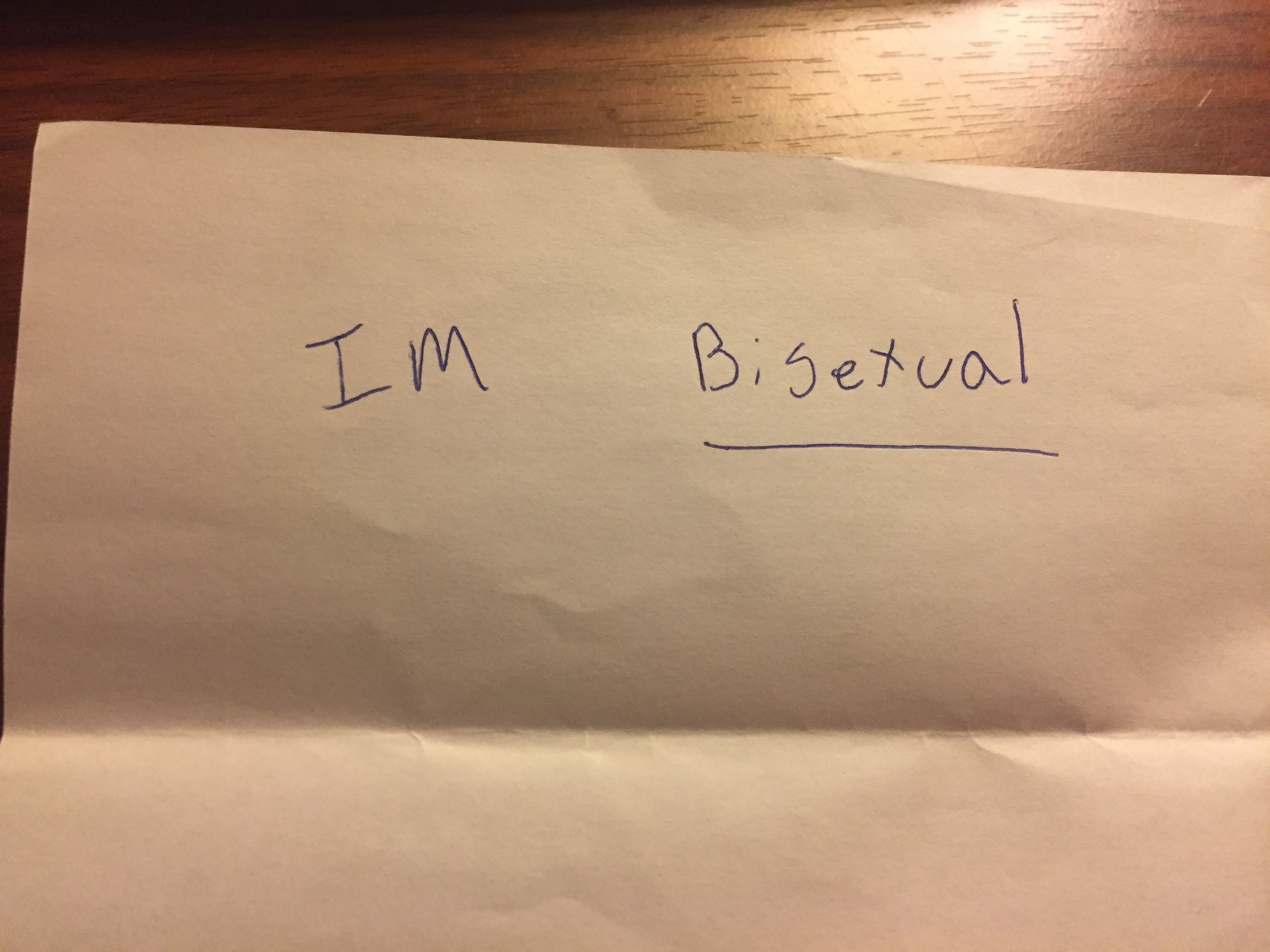 A copy of a daughter's 'coming out' note to her mom.