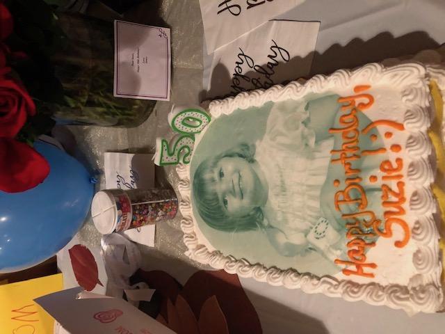 Suzie's milestone birthday cake