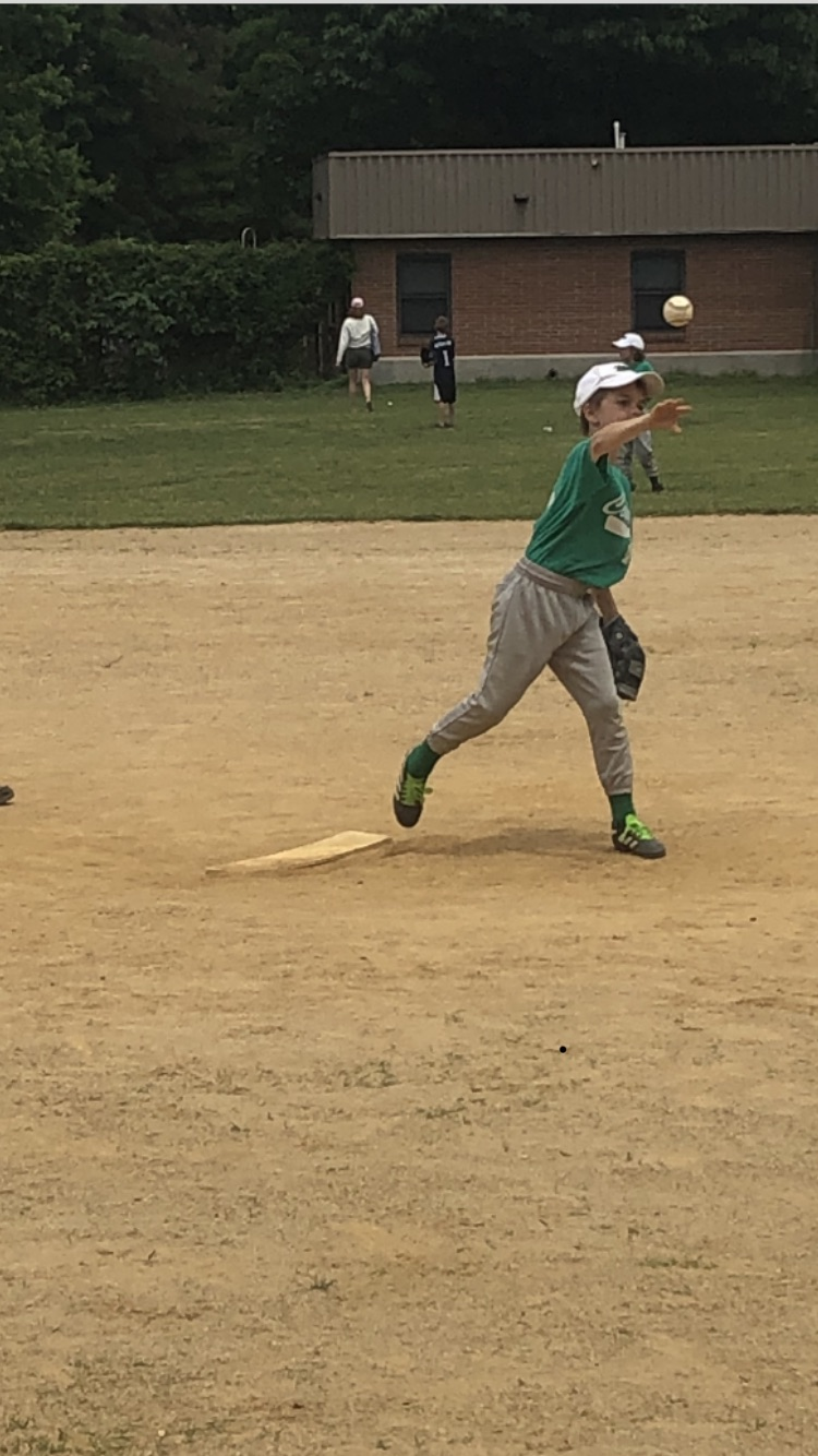 Our son Liam pitching at his baseball game.