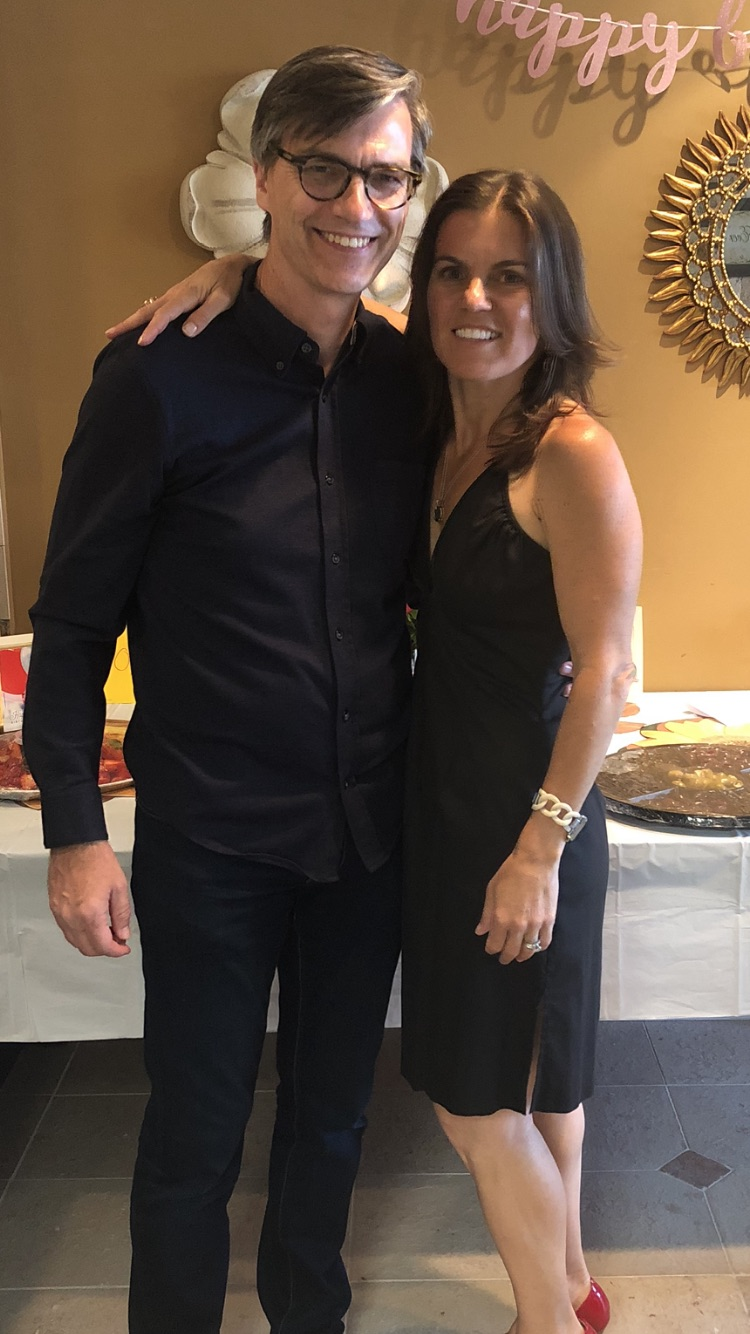 James and Suzie celebrating