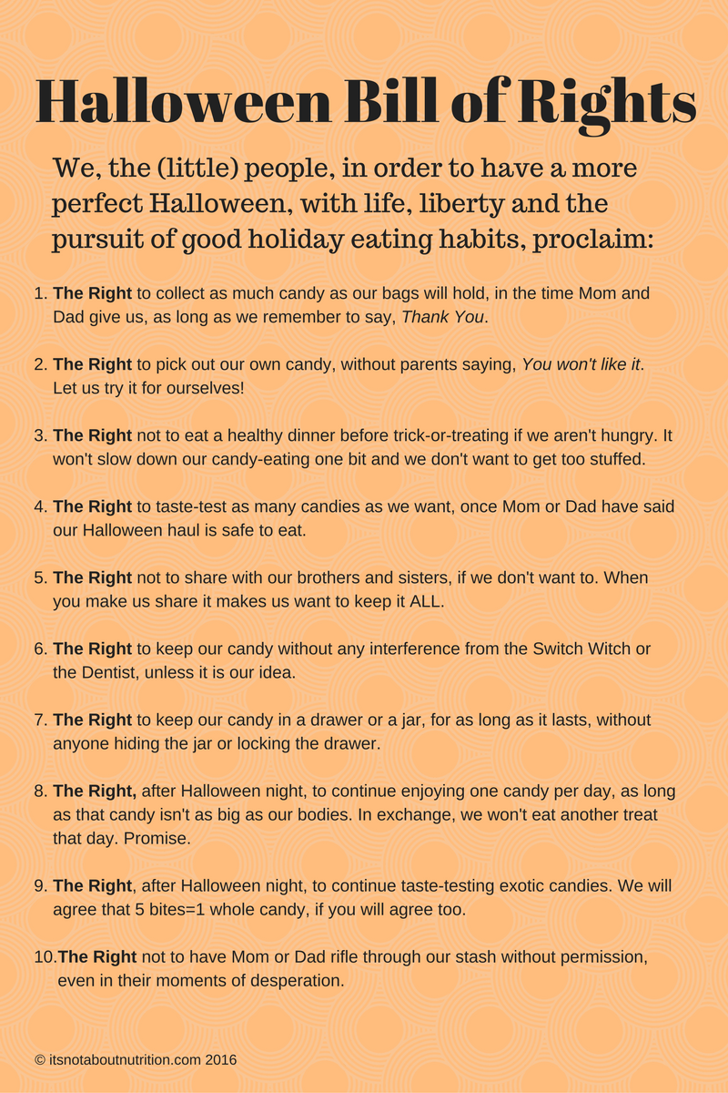 the halloween bill of rights kids want and deserve | psychology today