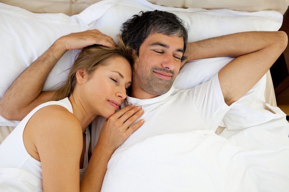 Image result for Sleep together in bed and just lie there with each other without having sex.