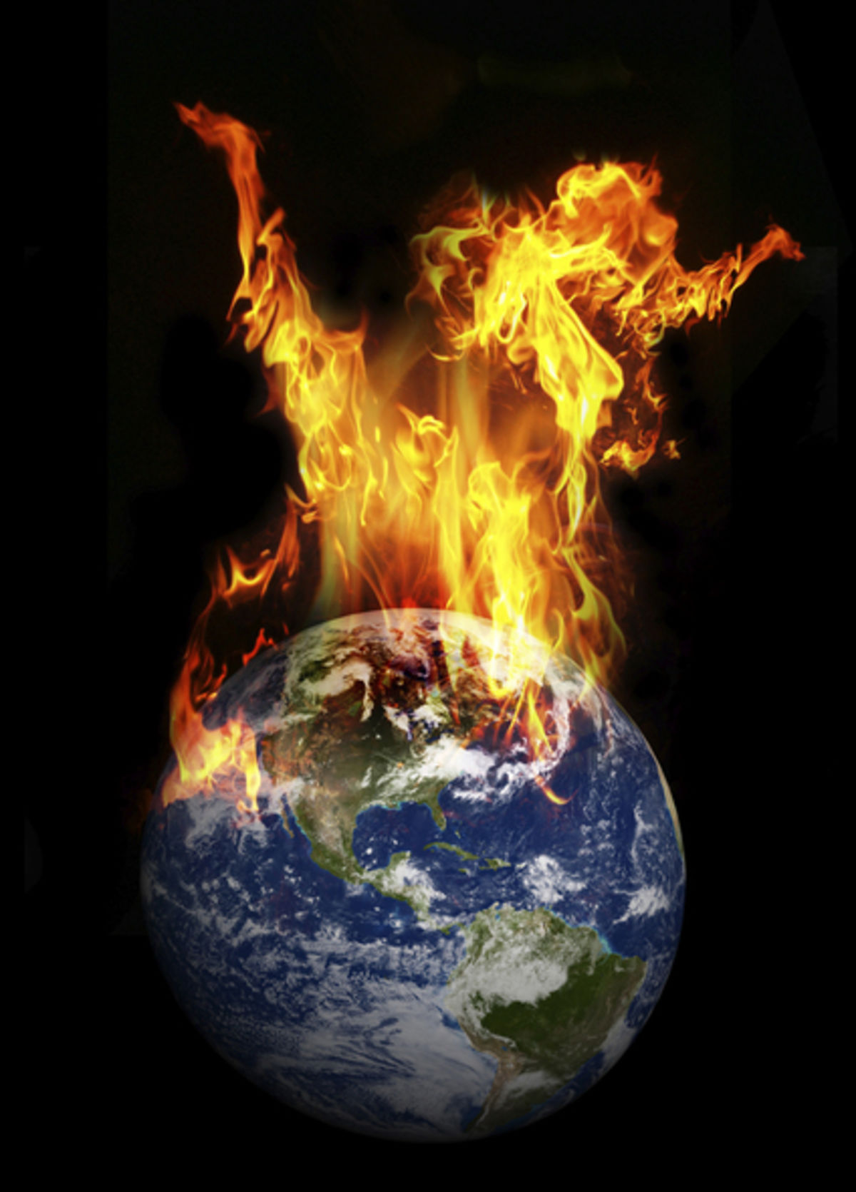Image result for earth on fire climate change