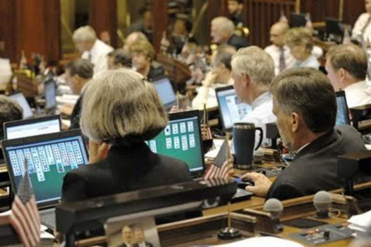Image result for photo of congress playing solitaire