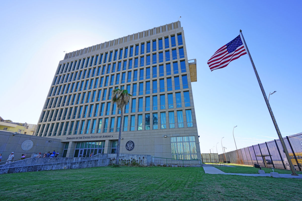 Weak Evidence for Microwave Radiation in U S  Embassy