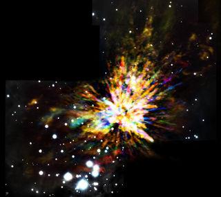 ALMA (ESO/NAOJ/NRAO), J. Bally; B. Saxton (NRAO/AUI/NSF); Gemini Observatory/AURA