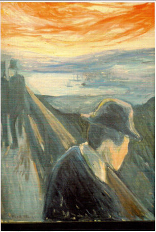 Edvard Munch, Despair 1892. Oil on canvas. Thiel Gallery, Stockholm. Reproduced with permission.