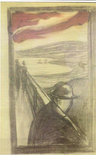 Edvard  Munch,  Despair 1892.	Charcoal	and	oil	on	paper. Munch    Museum,    Oslo.    QC     2001    The Munch Museum/The Munch-Ellingsen Group/Artists Rights Society (ARS), New York. Reproduced with permission.