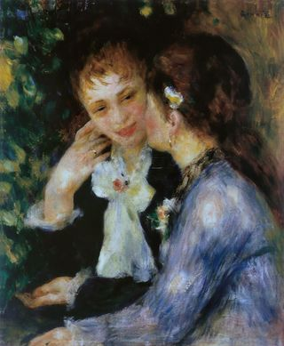 Pierre-Auguste Renoir, Confidences, public domain from Wikimedia commons.