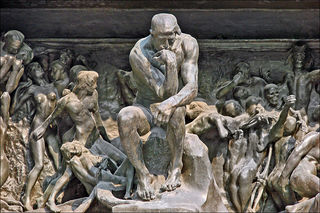 The Thinker at the Gates of Hell, Rodin.  Image courtesy of Wikimedia Commons.
