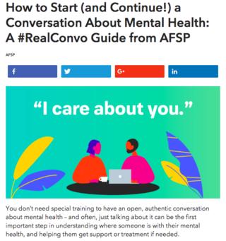 AFSP website