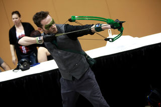By Gage Skidmore from Peoria, AZ, Green Arrow cosplayer at 2014 Arizona Comic Con. On Wikimedia Commons