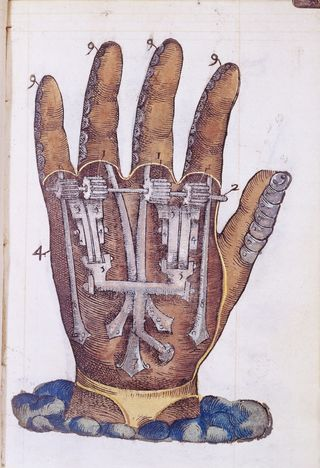 """""""Hand, showing mechanical movement"""" by Ambroise Paré from the Welcome Library, London / CC BY 4.0"""