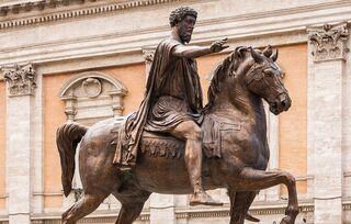 """Equestrian statue Marcus Aurelius replica, Capitole, Rome, Italy"" by Jebulon / CC0 1.0"
