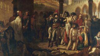 """Napoleon Bonaparte Visiting the Plague-stricken at Jaffa"" by Antoine-Jean Gros/Wikimedia Commons, public domain"
