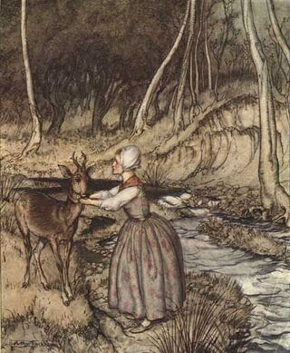 From Little Brother and Little Sister and Other Tales by the Brothers Grimm, Constable & Co. 1917/Public Domain