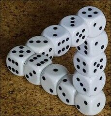 """Impossible Dice Triangle Optical Illusion"""" by The Lex Talionis is licensed under CC BY-ND 2.0"""