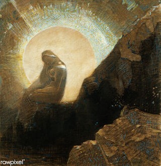 Melancholy by Odilon Redon, image provided by Rawpixel Ltd via Flickr, creative commons license