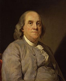 Portrait of Benjamin Franklin, National Portrait Gallery, Public Domain, Wikimediacommons.org