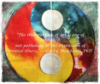 Epigraph from the art journals of C. Malchiodi ©2015
