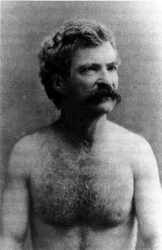 """Mark Twain, Shirtless 1883,"" Mark Twain Papers, Bancroft Library, University of California at Berkeley"