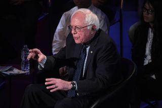 Bernie Sanders wild hands