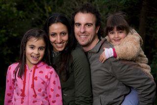 Photo of binational family.