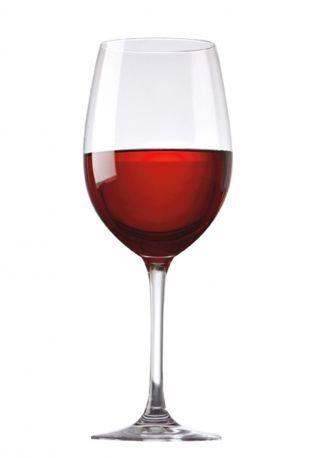 Half glass of red wine