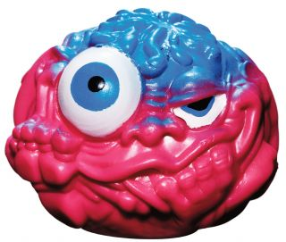 Red and blue slimeball with eyes