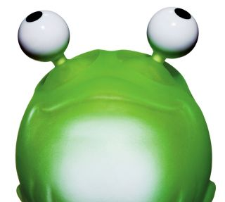 Frog with bulging eyes