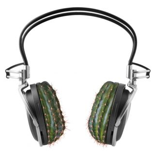 Headphones with prickly ear cushions