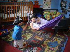 Children playing pirates