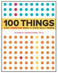 Cover of 100 Things Every Presenter Needs To Know About People