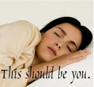 Woman in ideal slumber.
