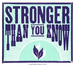 Stronger than you know logo