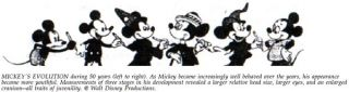 Mickey Mouse becomes cuter by the decade