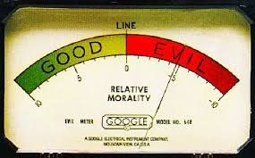 A meter that reads good on one side and evil on the other