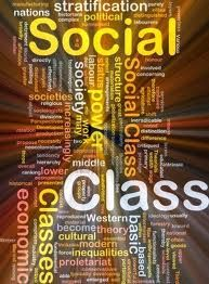 Words related to social class jumbled in a square