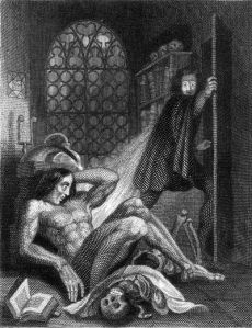 Frontispiece to Mary Shelley's Frankenstein